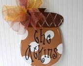 Fall Door Hanger, Acorn Door Decoration, Fall Home Decor, Fall Wreath