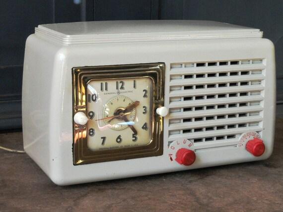 radio r veil vintage bak lite cru general electric mod le. Black Bedroom Furniture Sets. Home Design Ideas
