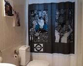 ZOMBIES LIQUIDATION SALE Free Shipping Original Decor Shower Curtain Gift Ideas Underground Bloody Gore Creepy Horror Bathroom