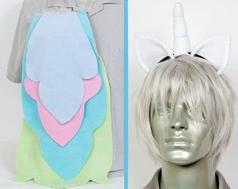 Princess Celestia Adjustable Ears and/or Tail - buy as a set or separate! Costume sized for Kids or Adults