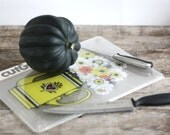 Floral Plastic Cutting Board - Cut & Serve