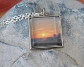 Beautiful Beach Sunset Necklace