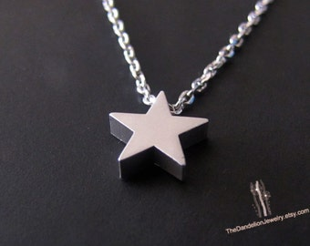 SALE 10% OFF: Cute tiny Star Necklace Pendant Necklace Charm Necklace Jewelry Gift