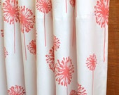 WINTER SALE ⋘ One Pair Window Treatments Curtain Panels 24W or 50W x 63, 84, 90, 96 or 108L Large Dandelion White Coral Collection shown