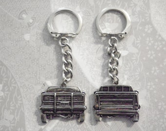 2 Silverplated Chevrolet Pick-up Keychains