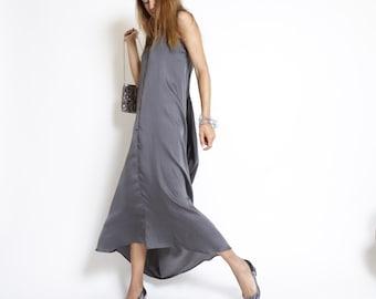 Cocktail Dress, Summer Party Dress, Grey Bridle Dress