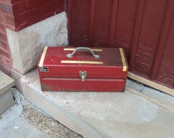 Vintage Red My Buddy Tool Box Rustic Primitive Shabby  B817