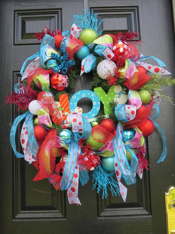 sale wreaths christmas door wreath holiday wreath front door. Black Bedroom Furniture Sets. Home Design Ideas