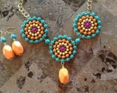 Chunky Statement Necklace-Indian Necklace-Statement Necklace-One of a Kind-Hand Made-Designs by Stalinda