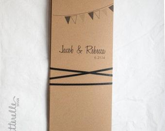 Banner Kraft Simple Wedding Invitation