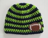 Seattle Seahawks Baby, Seattle Seahawks, Seattle Seahawks Hat, Seahawks Baby, Seahawks Hat, Football Hat, Football Beanie, Photo Props