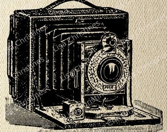 Camera Steampunk Instant Download Digital Transfer Image for Iron On / 8