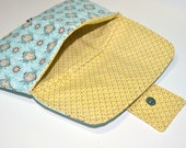Diaper Clutch - Blue and Yellow - Clutch for Diapers - Magnetic Closure