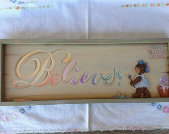 Dream-BELIEVE- Create Painting Pattern- Original Design by Cheryl Jones