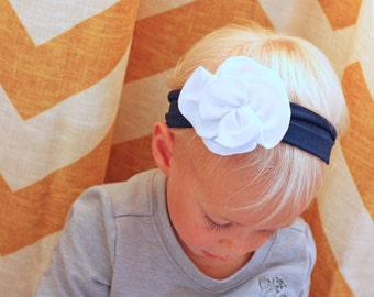 Petal Flower Jersey Knit Headband - Flower Headband - Baby to Adult Headband - Customize Your Colors