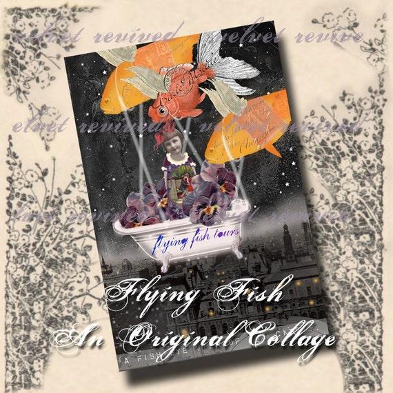 Flying Fish - Original Digital Collage