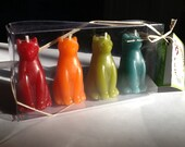 Beeswax Cat Candles, 4-Pa...