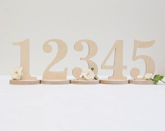 1-20 table numbers - DIY table numbers - table numbers - wooden table numbers - wedding numbers - table wood number - wood table number