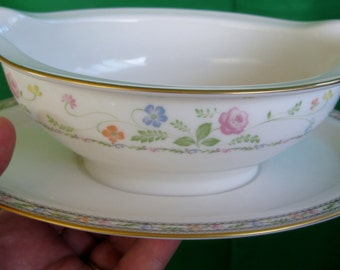 RARE 1970s Noritake Finale Gravy Boat with underplate Very Good Hard to find
