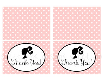 Glamour Girl- Thank You Cards