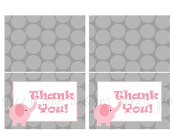 Thank you Cards- Elephant Party