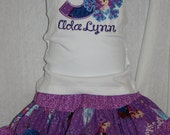 Ari's Angels Personalized Girls Frozen Birthday, Frozen outfit Embroidered, Appliqued, Monogrammed