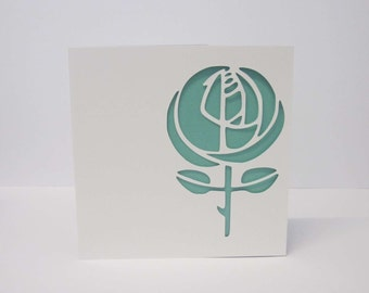 Art deco papercut card