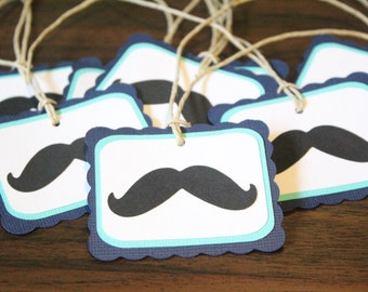 Moustache Party Favor Tags - Moustache Birthday
