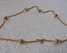 Vintage Gold Avon Chain Knot Necklace   16 inch