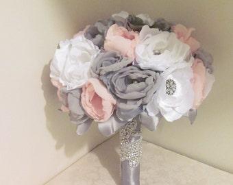 Fabric Bouquet /  Brooch Bouquet /  Large size  / Pick your color combo