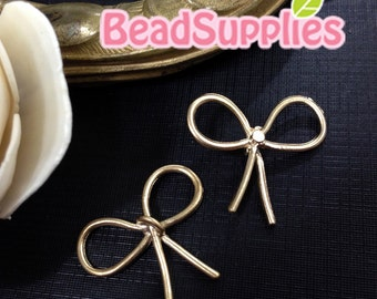 CH-ME-02272- Gold plated, Elegant ribbon connector, 2 pcs