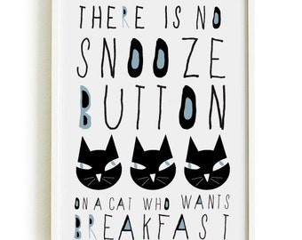 CAT quote poster-cat poster- cat shop - art print by nicemiceforyou