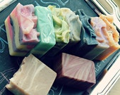 Pick 4 soaps for 20 dollars // buy four and save // variety pack soap sampler // flat rate shipping