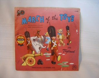 March of the Toys Cricket Records 45 rpm vinyl