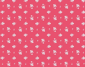 Floral Pink: Natalie Lymer - Enchant Collection 1 Yard Cut