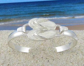 Flip Flop Bracelet Made of sterling Silver