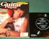 Vintage Guitar Magazine Keith Richards with Flexidisc Record 1989 Rolling Stones