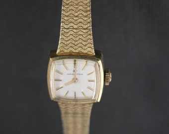 Vintage Ladies Gold Hamilton Watch