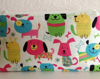 Colorful Dogs - Gadget Pouch/Jewelry Bag