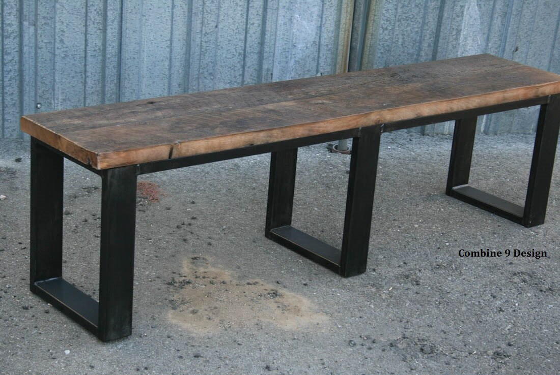 Modern industrial bench seating urban loft decor