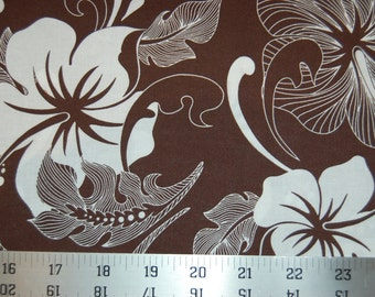 Robert Kaufman Fabric Road to Halewa Chocolate Brown Hawaiian Floral Quilting Cotton Sewing Quilting