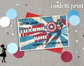 CAPTAIN AMERICA Thank You Card Printable