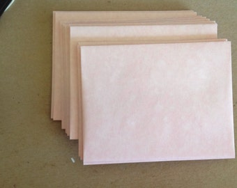 A2 envelopes pink parchment for a textured or aged look lot of 25