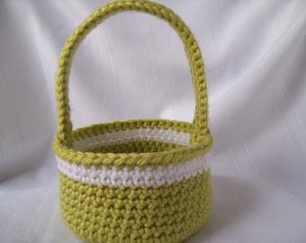 Basket, Crochet Basket, Gift Basket, Green basket, Housewares