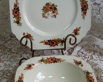 Wedgewood and Co. of England - Collectible Dinner plate and Vegetable Bowl.