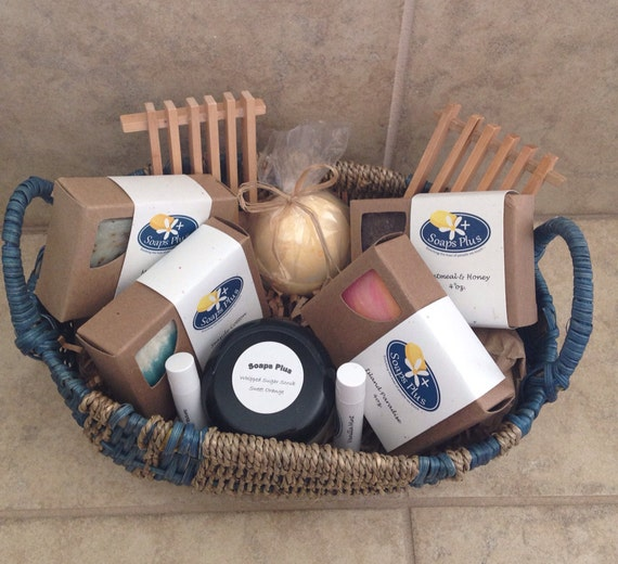 Handmade Soap Baskets : Handmade soap gift basket