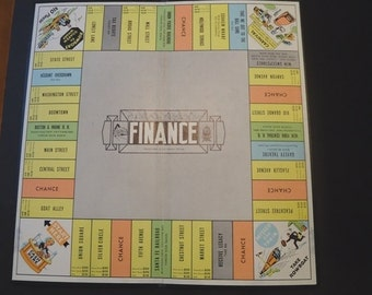 Finance Game Board Vintage Board Game 1950s Wall Decor