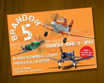 Planes Birthday Invitations / Digital File / You Print