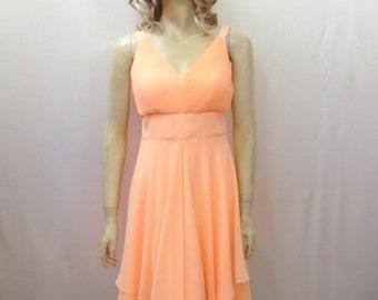 Peach Bridesmaid Dress. Party Dress
