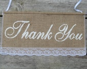 Thank You Wedding Sign - Thank You Banner - Thank You Sign - Thank You Photo Prop - Thank you Burlap sign